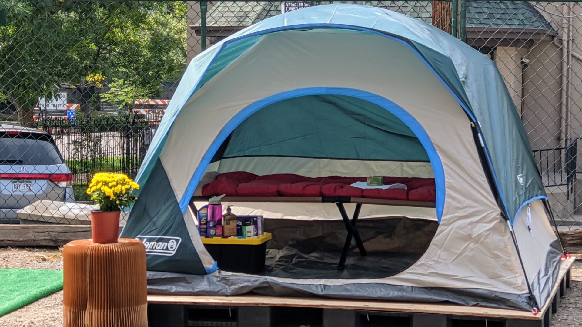 Photo of tent in SOS mockup