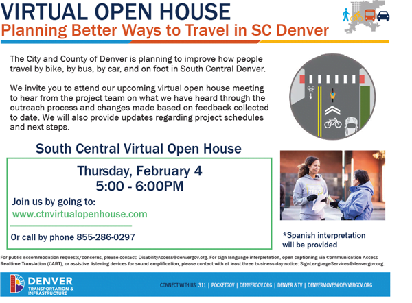 South Central Community Transportation Network Virtual Open House informational flier