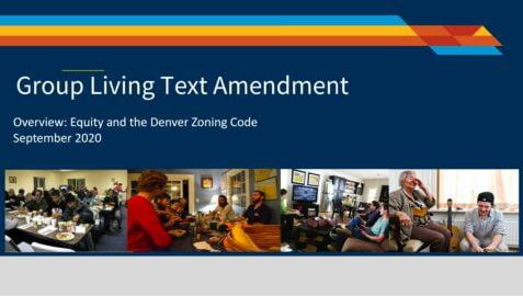 Title card: Group Living Text Amendment