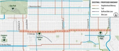 Map of proposed 12th avenue bikeway
