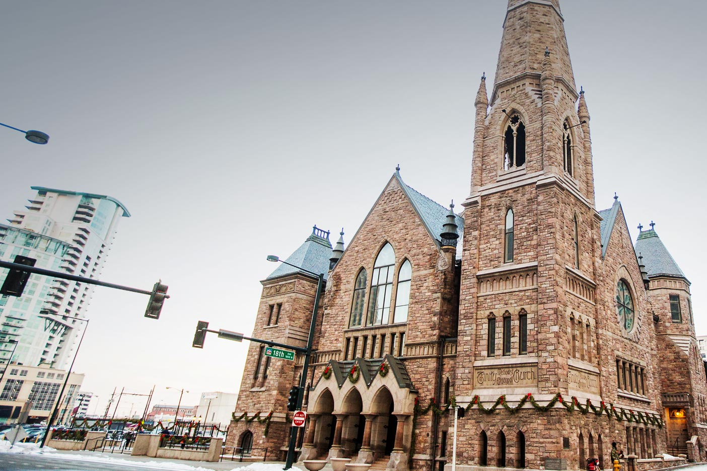 Trinity United Methodist Church located at 1820 Broadway in Denver.