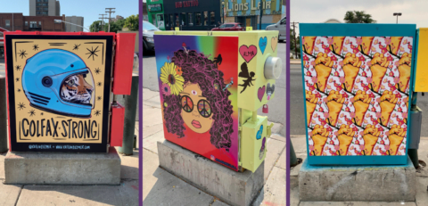 Examples of painted power boxes