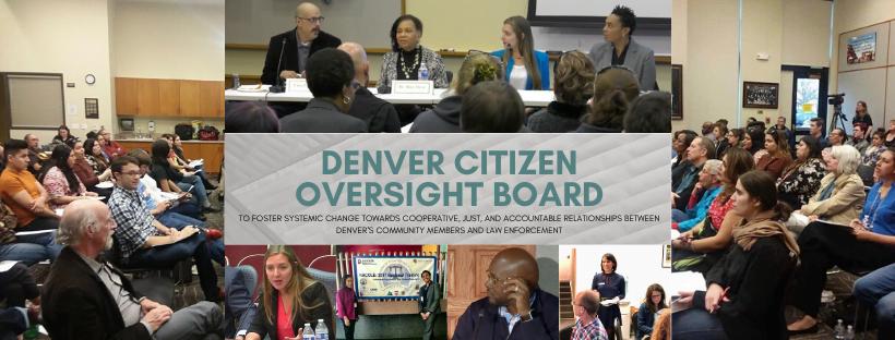 Denver Citizen Oversight Board Banner with slogan